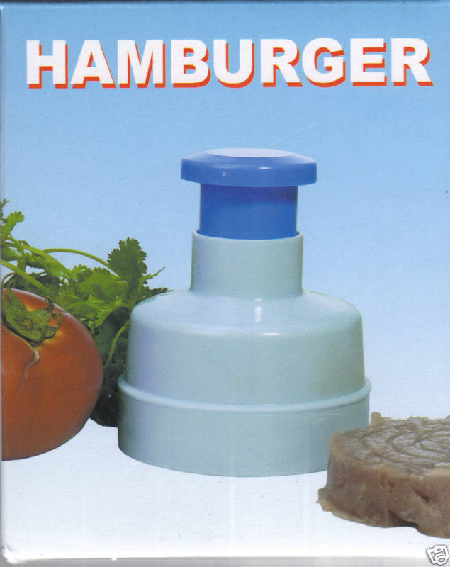 Spring-loaded hamburger press